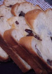HB♪大納言食パン 1.5斤使用