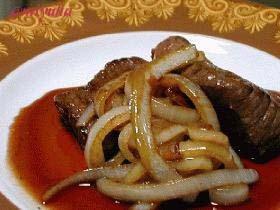 ■赤ワインソースde簡単ステーキ★