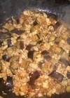鶏ひき肉とナスの甘辛炒め