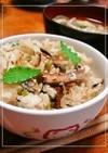 蒲焼缶で松茸風味贅沢★絶品炊き込みご飯