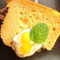 マンゴージャムシフォンケーキ