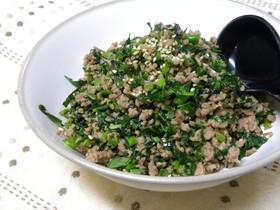 つぼみ菜と豚肉の味噌炒め