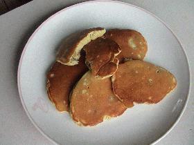 林檎とサツマイモのパンケーキ