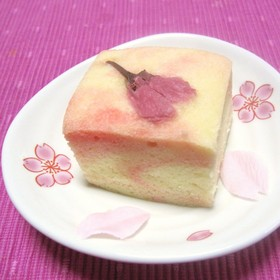 お花見✿簡単!桜の浮島(和風蒸しケーキ)