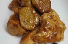 鶏肉と長芋のマスタード照り焼き♪