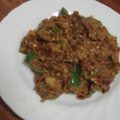 茄子とピーマンのインド野菜カレー