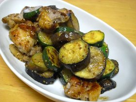 鶏肉と野菜のハニーマスタード炒め