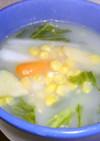 レタスと大根の中華風コーン スープ