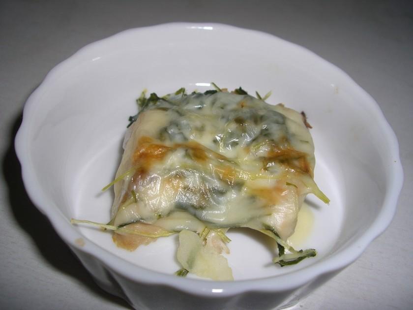 離乳食後期 ぶりと水菜のチーズ焼き☆