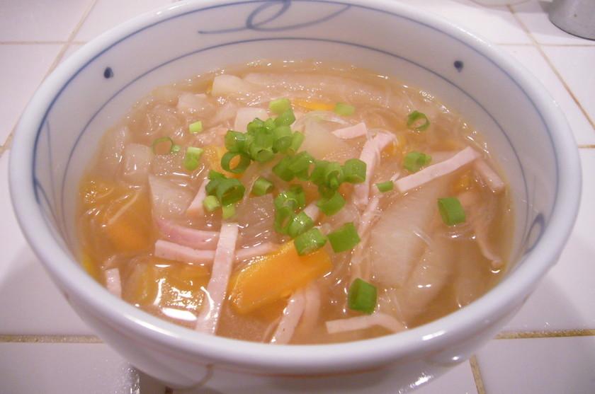 デトックス第1弾☆大根モリモリ春雨スープ