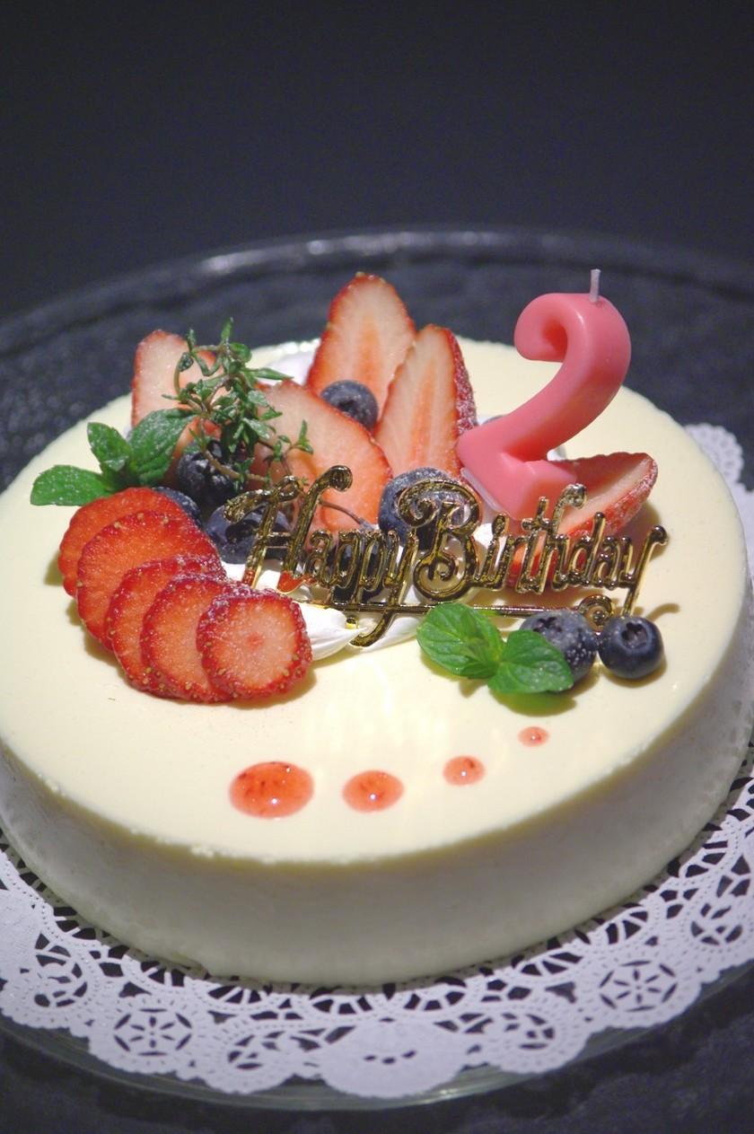 ■卵不使用■2歳のがっつり誕生日ケーキ♪