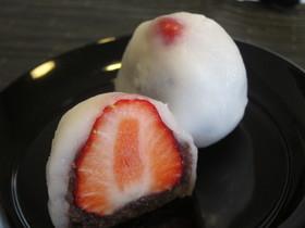 レンジで美味しいイチゴ大福(上新粉)
