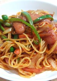 ケチャップで懐かしのナポリタンスパゲティ