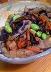 ひじきと高野豆腐の煮物☆枝豆プラス