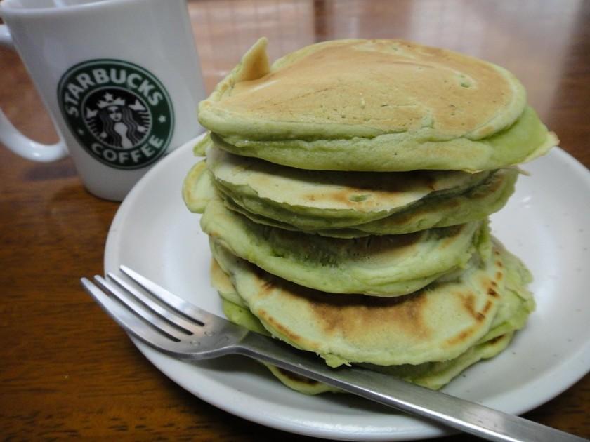 材料たった3つ!!グリーンなパンケーキ☆