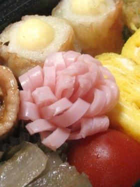 お弁当♬ 可愛いハムのお花♪