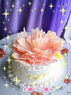 デコ飾りケーキ*カーネーションチョコ
