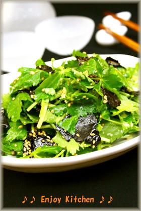 簡単♪我が家で人気!三つ葉と海苔のサラダ