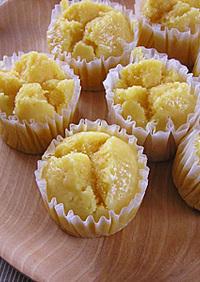 米粉で人参はちみつ蒸しケーキ(卵なし)