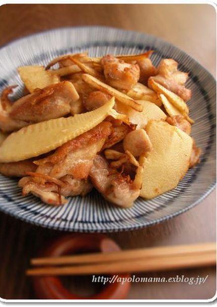 シンプルが美味しい!筍と鶏もも肉の塩炒め