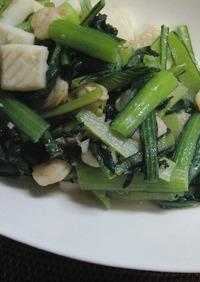 ♡小松菜とシーフードのナンプラー炒め♡