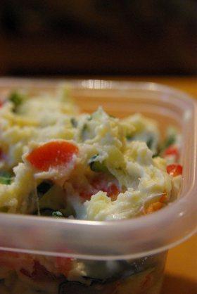 豆乳マヨで作るふわふわポテトサラダ
