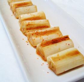 トースターでコンガリ焼きねぎ!ピリ辛中華