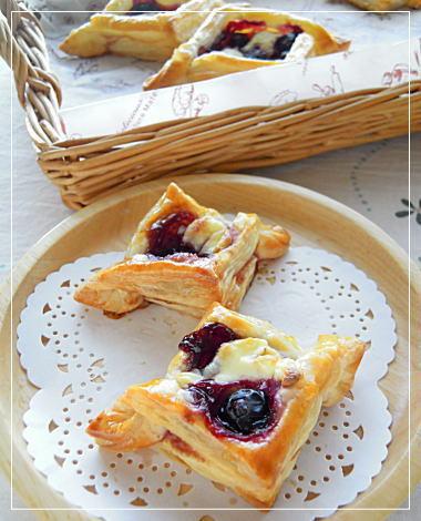 ブルーベリークリームチーズパイ