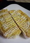 佃煮海苔と甘いたまごのトースト♡