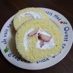 我家のいちごロールケーキ♪
