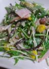 ほんのり醤油味の水菜マヨサラ