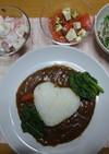 ほうれん草とひき肉のカレー(チーズ風味)