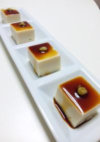 わらび餅粉で胡麻豆腐