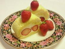 豆腐クリームのロールケーキ
