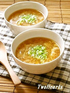 簡単あっという間に!カニ玉スープ