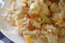 *焼鮭と長ネギ、たまごの炒飯*