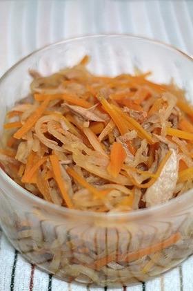 定番の常備菜!切干し大根とツナの煮物