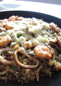 鉄板✿海鮮カレー炒飯