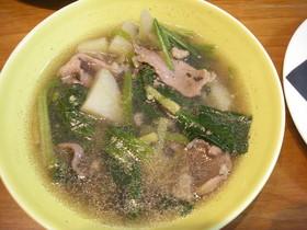 雑穀入り豚とじゃがいもの簡単スープ