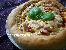 ふわふわ♡全粒粉入りチーズピザ