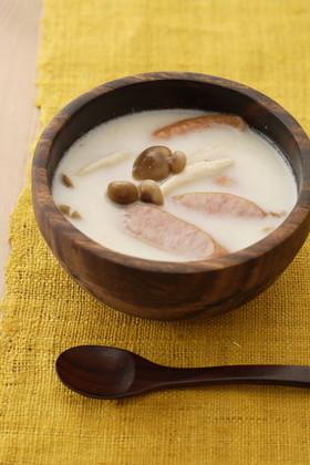 簡単!しめじと柚子胡椒のミルクスープ
