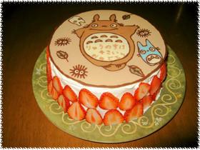 キャラケーキ☆トトロのでかチョコプレート