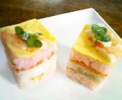 お祝い・パーティに♪ミニミニ簡単押し寿司
