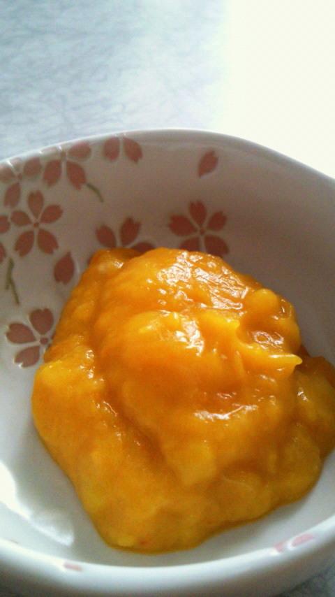 離乳食に☆かぼちゃバナナヨーグルト♪