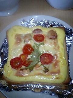 伝説の・・・半熟ピザトースト!
