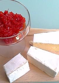 赤ピーマンのママレード♪白チーズのお供に