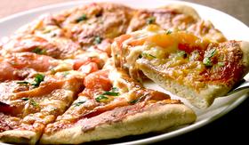大豆粉のピザ