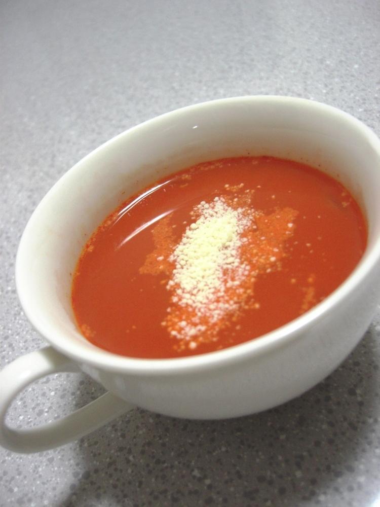 電子レンジで簡単☆マカロニ入野菜スープ♪