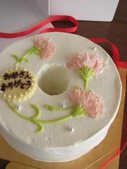 母の日*ケーキにカーネーションを~♪の写真