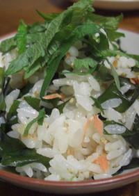 ☆鮭フレークとわかめの混ぜご飯☆
